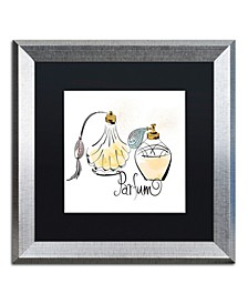 "Lisa Powell Braun 'Perfume Bottles' Matted Framed Art - 16"" x 16"""