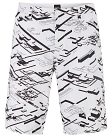 BOSS Men's Liem4-Print1 Graphic-Print Slim-Fit Shorts