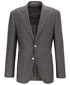 BOSS Men's Janson7 Micro-Print Wool Regular-Fit Jacket