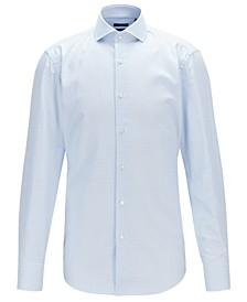 BOSS Men's Jason Vichy-Check Cotton Twill Slim-Fit Shirt