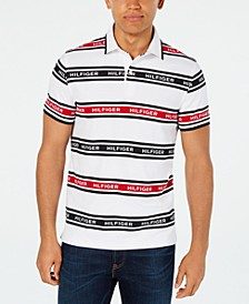Men's Slim-Fit Louis Striped Logo Polo Shirt