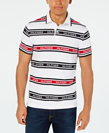 Tommy Hilfiger Men's Slim-Fit Louis Striped Logo Polo Shirt