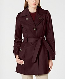 Petite Belted Hooded Trench Coat, Created for Macy's