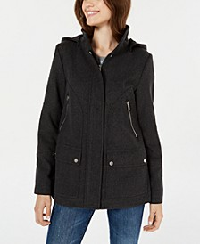 Juniors' Hooded Coat