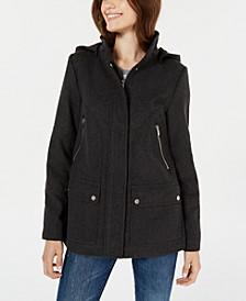 Juniors' Hooded Coat