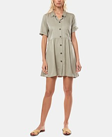Juniors' Bryson Fit & Flare Shirtdress