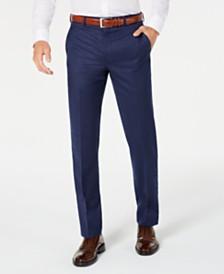 Lauren Ralph Lauren Men's Classic-Fit UltraFlex Stretch Blue Solid Suit Pants