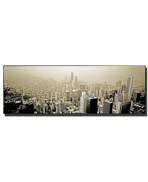 """Trademark Global Preston 'Chicago Skyline' Canvas Art - 24"""" x 8"""""""