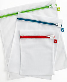 Whitmor Mesh Wash Bags, Set of 3 Color Coded