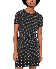 MICHAEL Michael Kors Mini-Studded Cotton T-Shirt Dress, in Regular & Petite Sizes