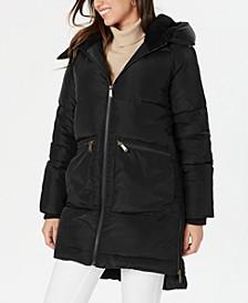 Fleece-Lined Hooded Puffer Coat