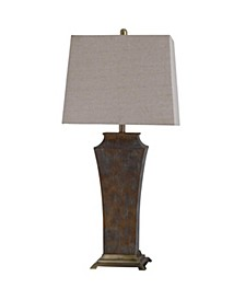 Girona Blue 34in Cast and Metal Base Table Lamp