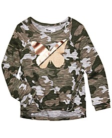 Little Girls Camo-Print Butterfly Top, Created for Macy's