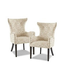 Angelica Dining Arm Chair, Quick Ship (Set Of 2)