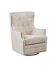 Ella Swivel Glider Chair, Quick Ship
