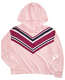 Big Girls Chevron-Print Hoodie, Created for Macy's