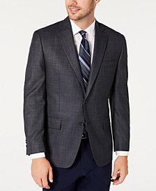 Michael Kors Men's Classic-Fit Blue/Gray Houndstooth Sport Coat