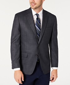 Michael Kors Men's Classic-Fit Blue/Gray Houndstooth Sport Coat