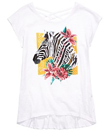 Big Girls Floral Zebra T-Shirt, Created for Macy's