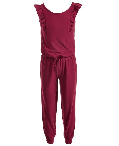 Epic Threads Toddler Girls Flutter-Sleeve Jumpsuit, Created for Macy's