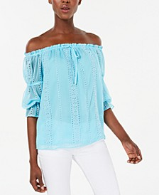 INC Ruffled Off-The-Shoulder Blouse, Created for Macy's