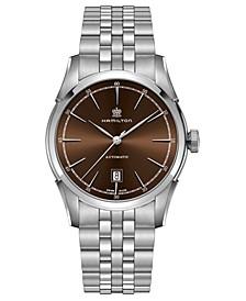 Men's Swiss Automatic Spirit Of Liberty Stainless Steel Bracelet Watch 42mm
