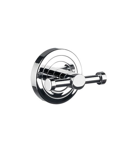 WS Bath Collections Polo Double Bathroom Hook in Polished Chrome