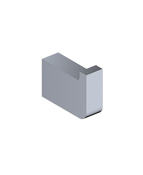 WS Bath Collections Cube Single Bathroom Hook in Polished Chrome