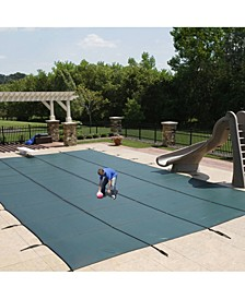 Mesh In-Ground Pool Safety Cover with Center Step