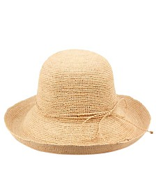 Angela & William Raffia Roll Up Brim Sun Cloche Hat