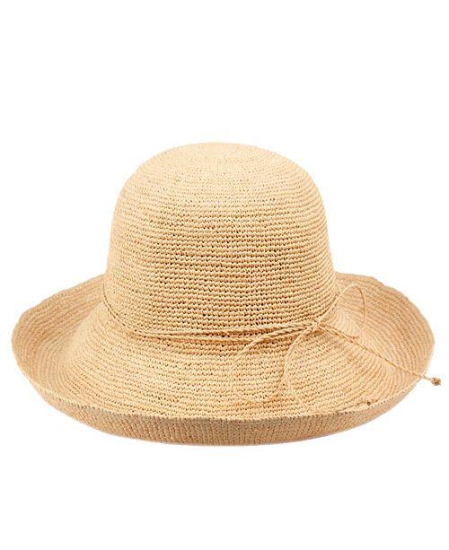 Angela & William Raffia Roll Up Brim Sun Cloche Hat