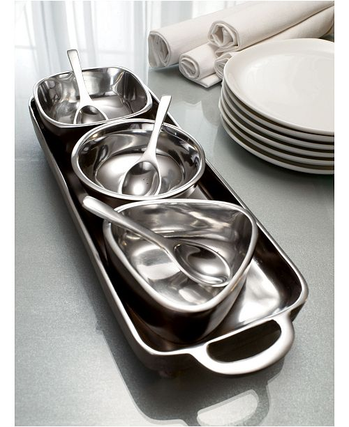 St. Croix KINDWER 7 Piece Tray and Bowl Condiment Set