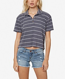 Juniors' Ace Cropped Polo Top