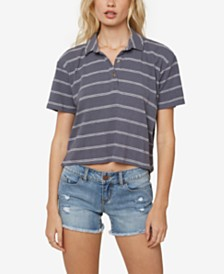 O'Neill Juniors' Ace Cropped Polo Top