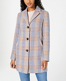 Juniors' Plaid Walker Coat