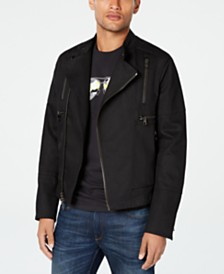 Michael Kors Men's Denim Biker Jacket, Created for Macy's
