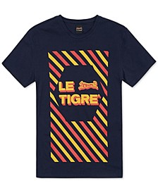 Men's Diagonally Striped Logo T-Shirt