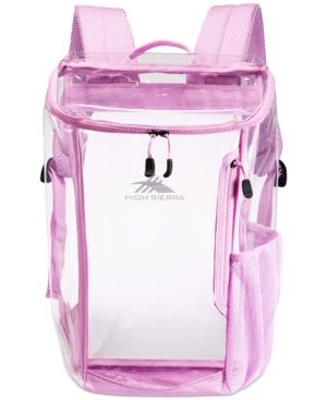 High Sierra Clear Top-Load Backpack
