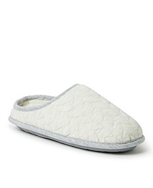 Women's Cable Quilt Clog Slipper, Available in Wide Width, Online Only