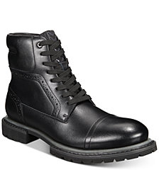 INC Tull Cap-Toe Boots, Created for Macy's