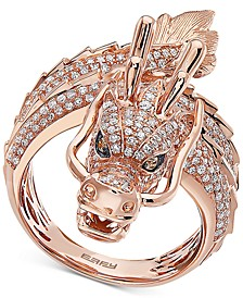 EFFY® Diamond Dragon Statement Ring (1-1/3 ct. t.w.) in 14k Rose Gold