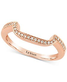 Vanilla Diamond® Curved Band (1/10 ct. t.w.) in 14k Rose Gold