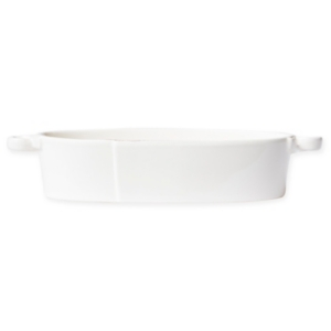 Vietri Lastra Collection Handled Oval Baker In Natural