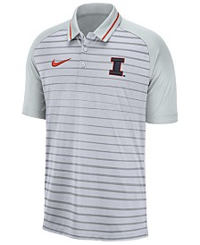 Nike Men's Illinois Fighting Illini Stripe Polo