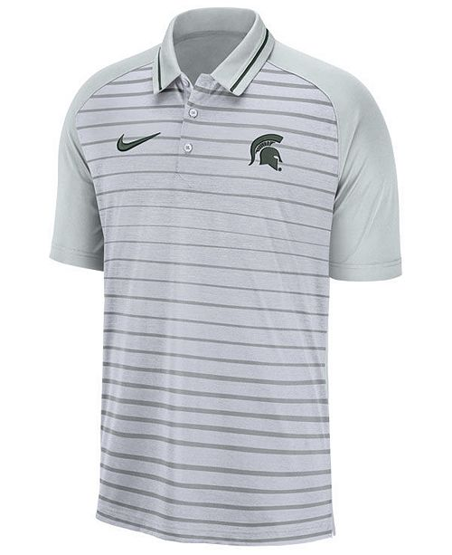 Nike Men's Michigan State Spartans Stripe Polo