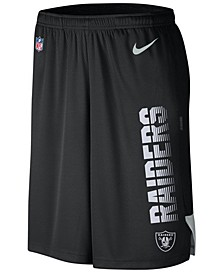 Men's Oakland Raiders Player Knit Breathe Shorts