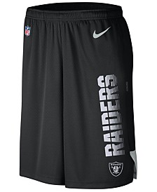 Nike Men's Oakland Raiders Player Knit Breathe Shorts