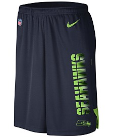 Nike Men's Seattle Seahawks Player Knit Breathe Shorts