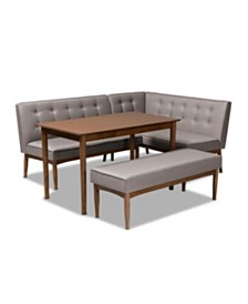 Arvid 4pc Dining Set, Quick Ship