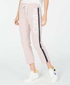 Calvin Klein Performance High-Waist Ombré-Stripe Ankle Pants
